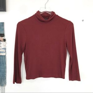 EUC Forever 21 Turtleneck Ribbed 3/4 Sleeve top L